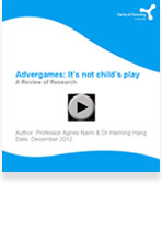 Advergames: It's not child's play. A Review of Research